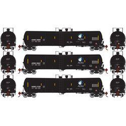 Athearn 17028 N 30,000 Gallon Ethanol Tank ADMX #1 (3)