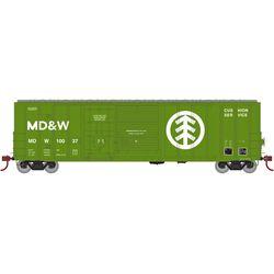 Athearn 20094 N 50' FMC Ex-Post Combo Door Box Minnesota Dakota & Western #10037