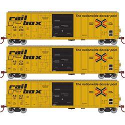 Athearn 71003 HO 50' FMC Ex-Post Combo DoorBox Railbox/Early(3)