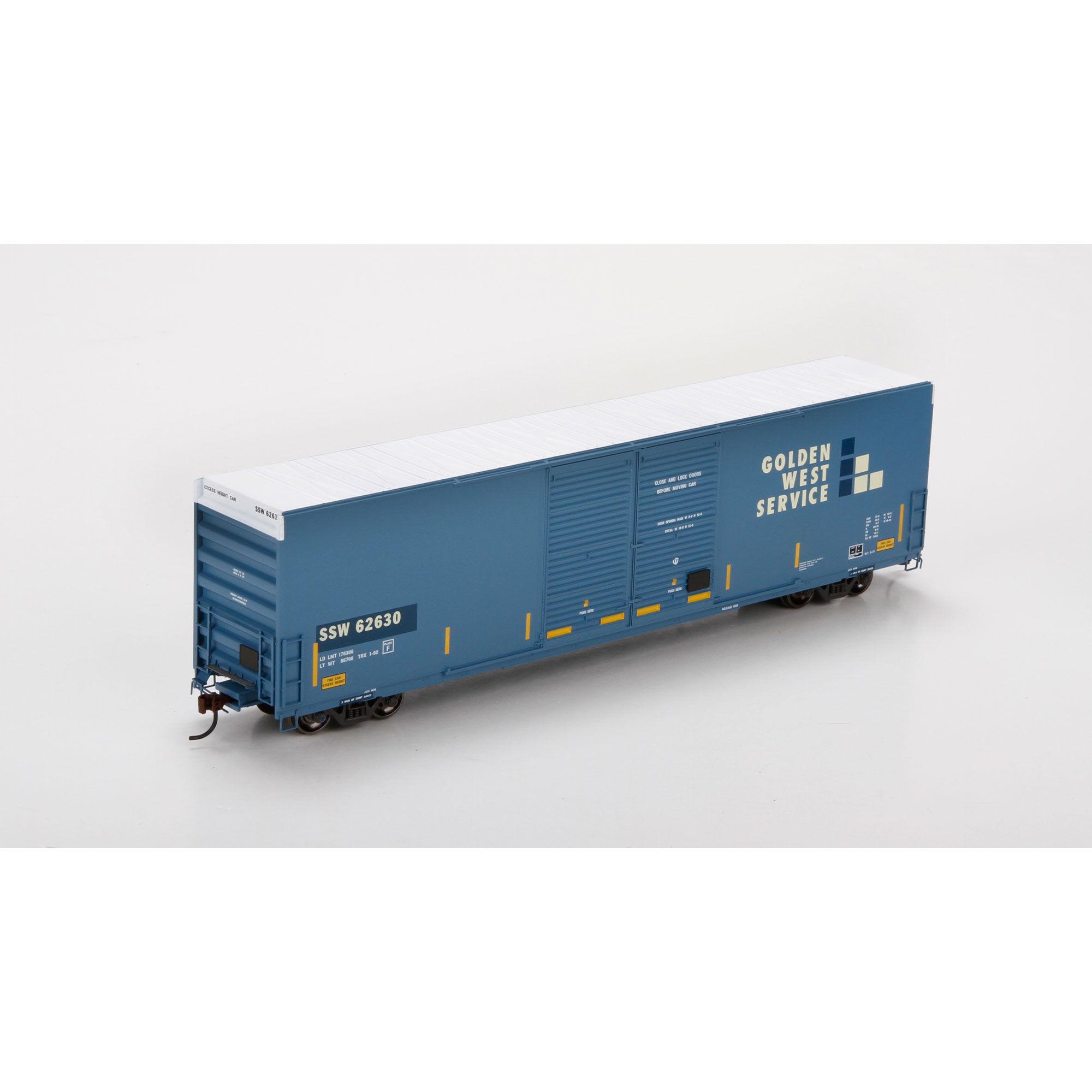 Athearn 87177 HO FMC 60' DD Hi-Cube Box, SSW/Ex-GWS #62630