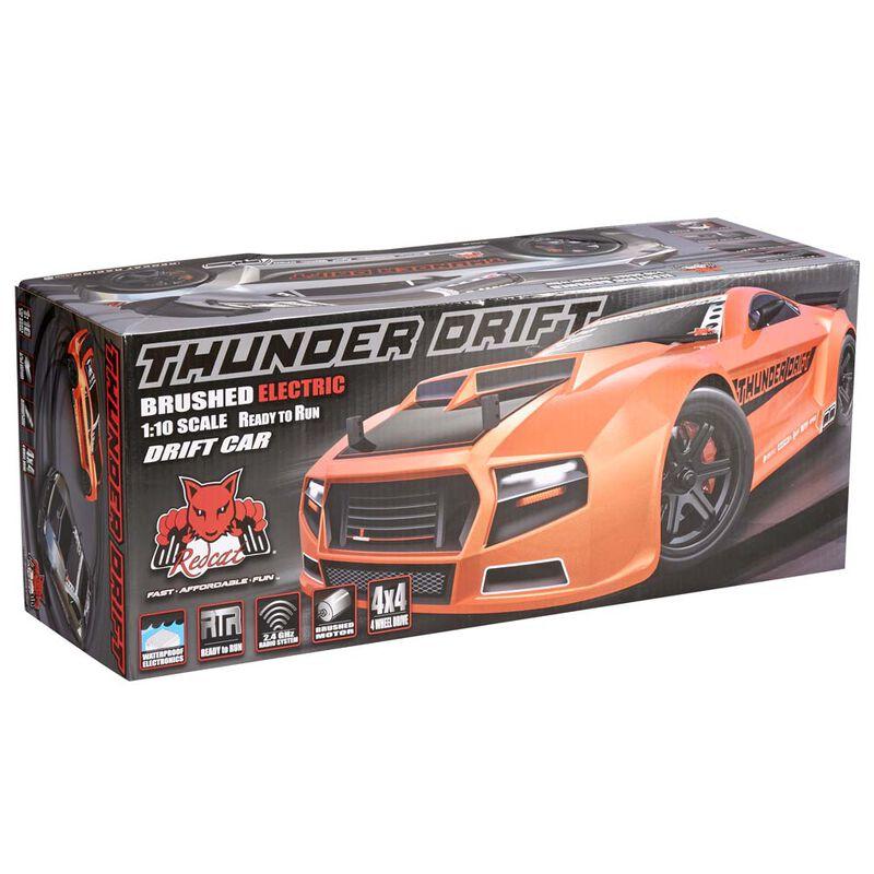 1/10 Thunder Drift 4WD Brushed RTR, Orange