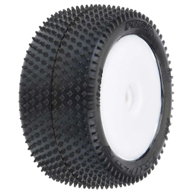 Prism Carpet Mounted Rear Tires, White: Mini-B