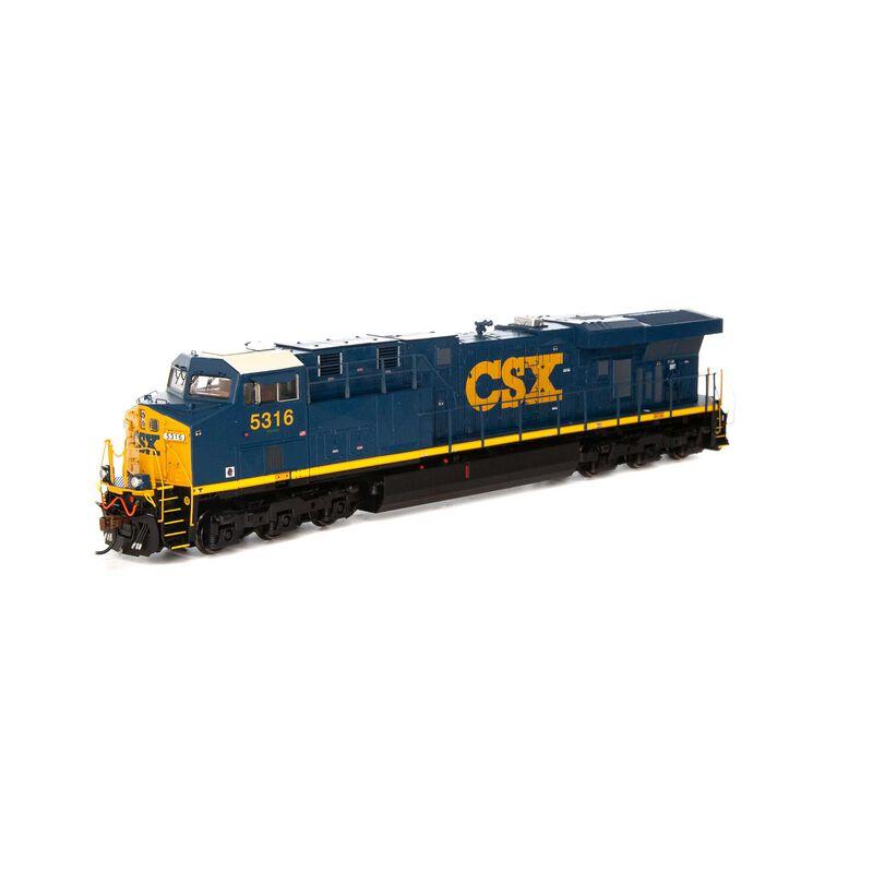 HO ES44DC with DCC & Sound CSX #5316