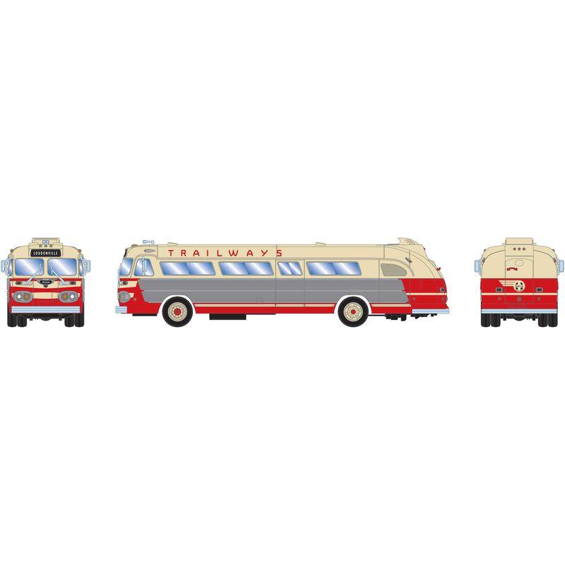 HO RTR Intercity Bus Santa Fe Trailways #2