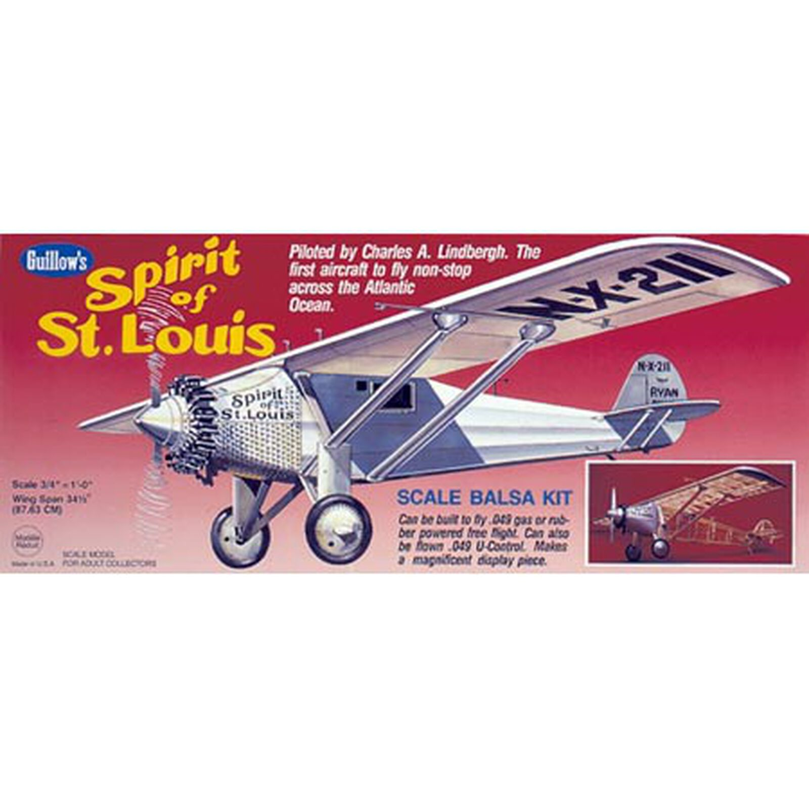 """Spirit of St. Louis Kit, 34.5"""""""