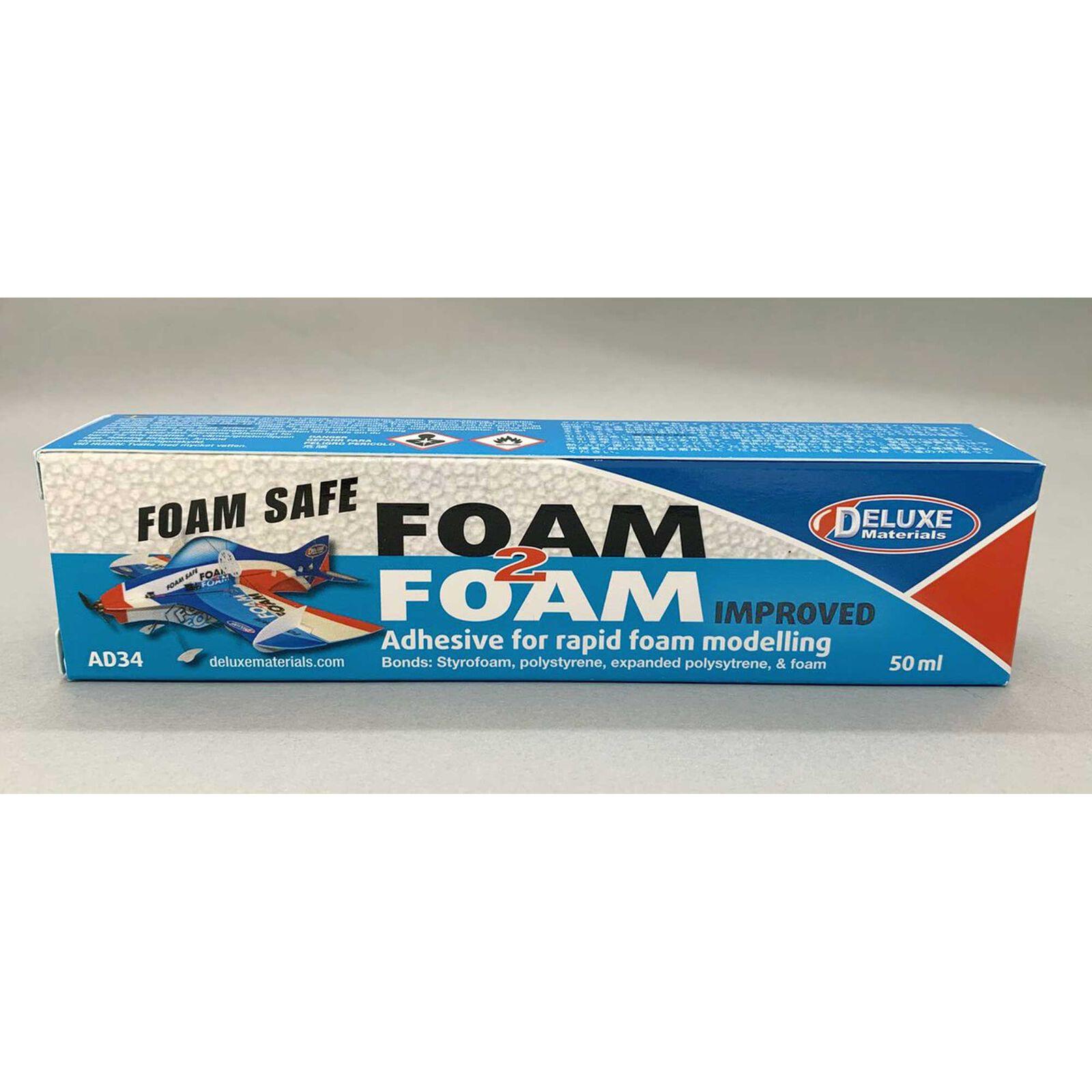 Foam 2 Foam, Foam Safe Glue, 50ml: EPO, EPS, Wood