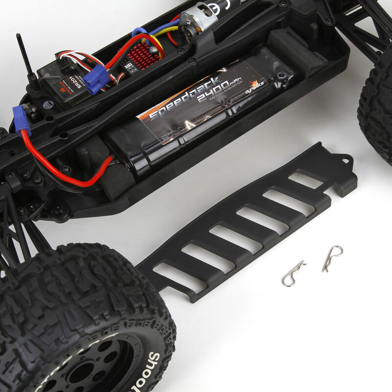1/10 Ruckus 4WD Monster Truck Brushed RTR, Blue/Yellow
