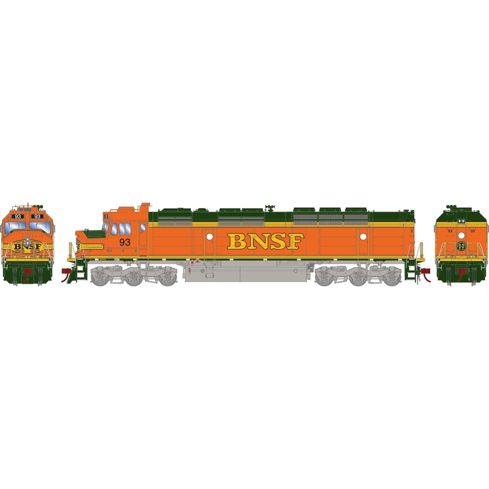 HO FP45 with DCC & Sound, BNSF #93
