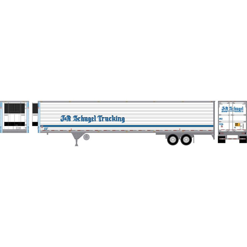 HO RTR 53' Utility Reefer Trailer J&R Schugel#91196