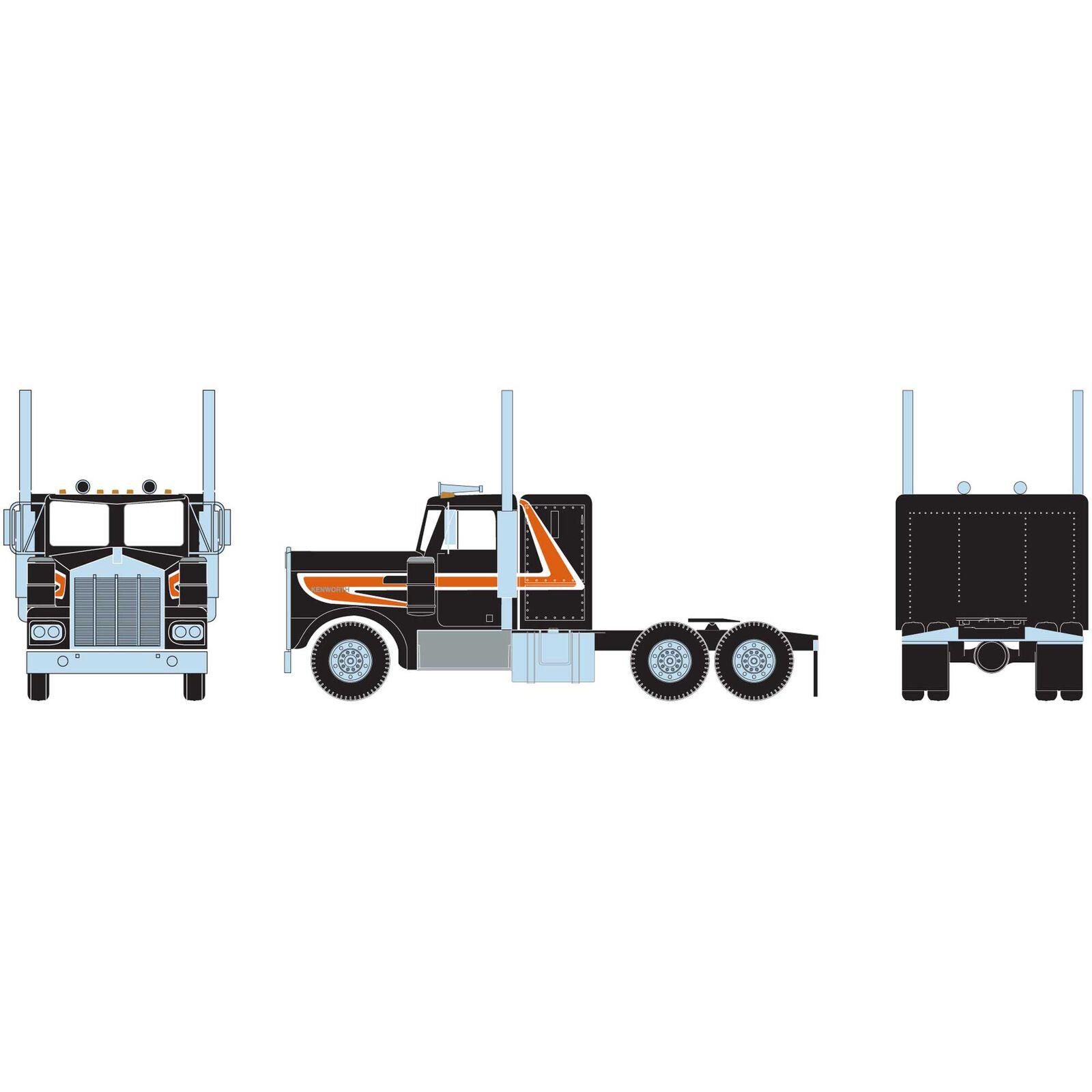 HO RTR KW Tractor, Orange & Black