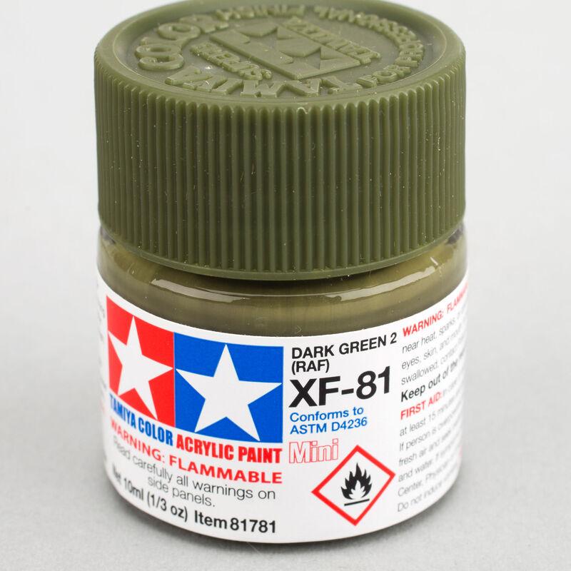 Acrylic Mini XF-81 Dark Green 2 RAF 10ml Bottle