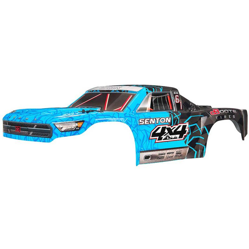 1/10 Painted Body with Decals, Blue: Senton 4x4 Mega