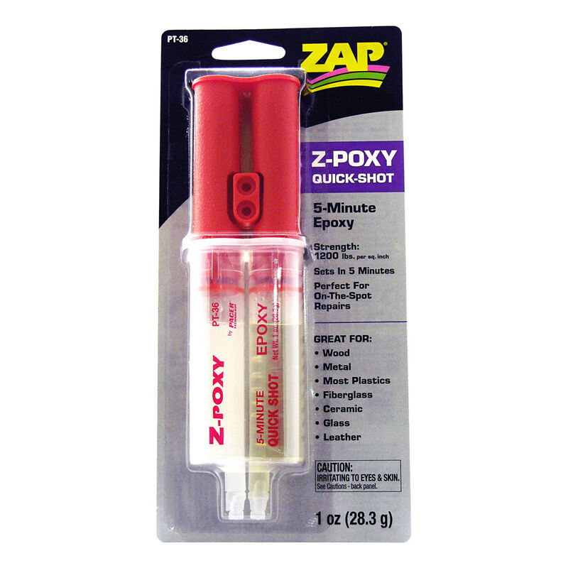 Z-Poxy 5-Minute Quick Shot Epoxy, 1 oz