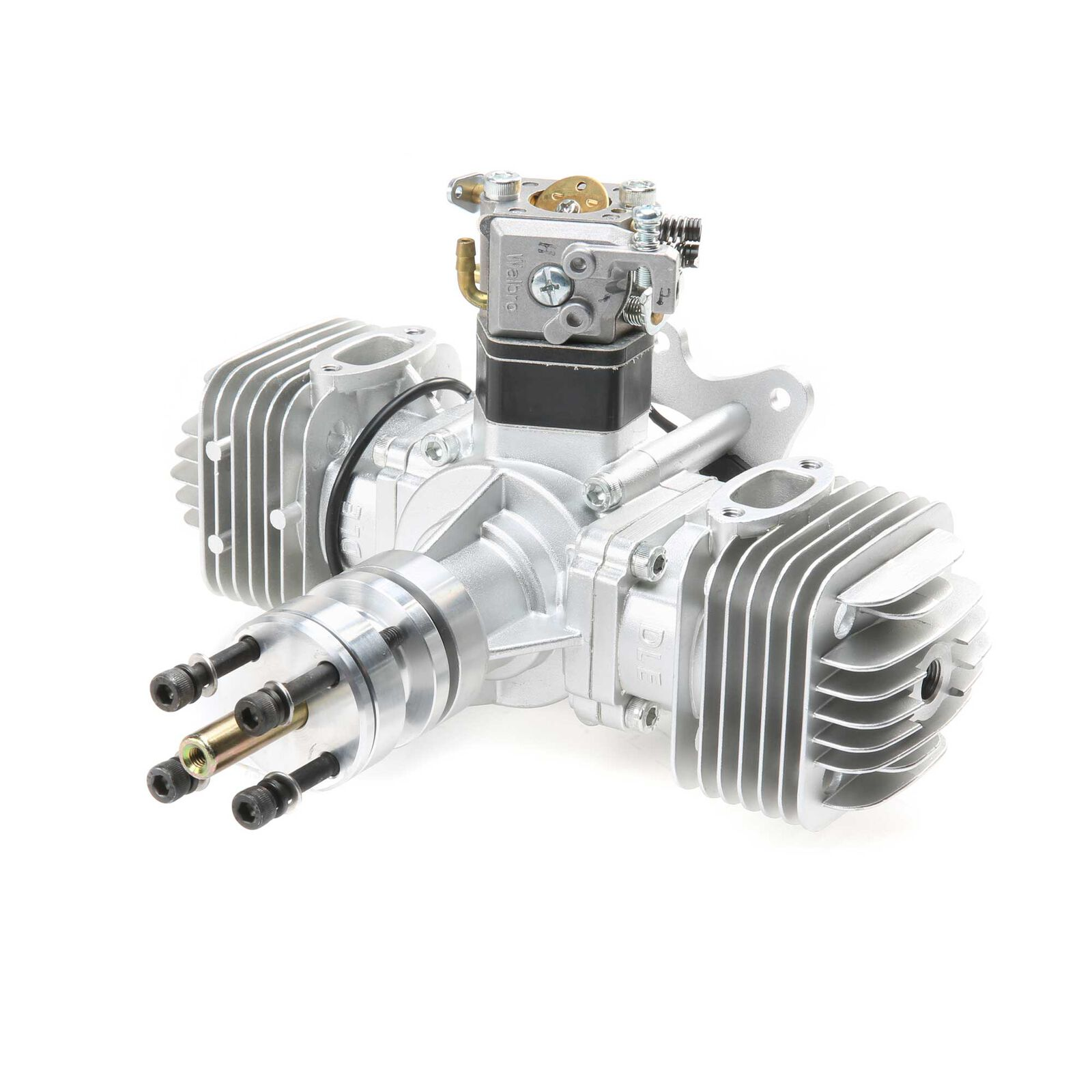 DLE-60 60cc Twin Gas Engine with Electronic Ignition and Mufflers