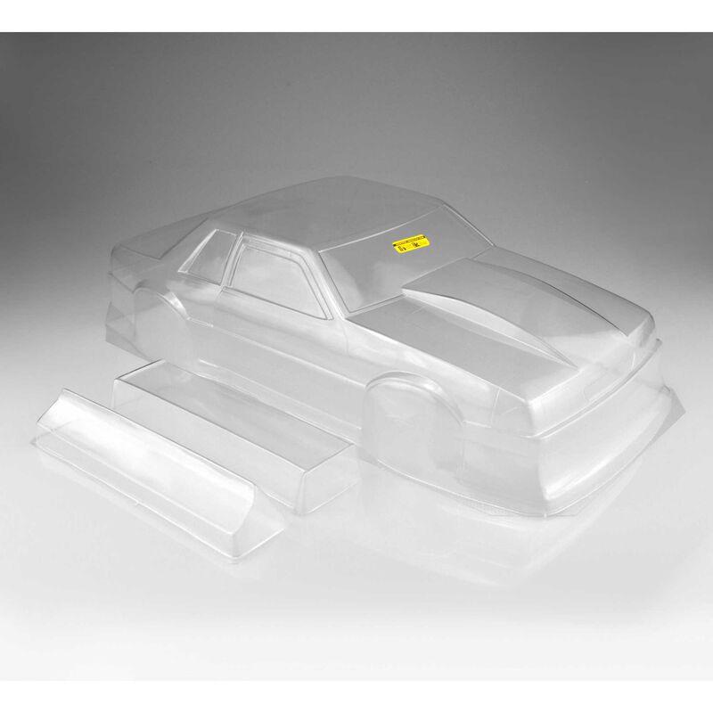 """1/10 1991 Ford Mustang Fox Clear Body 10.75 Width, 13"""" Wheelbase"""