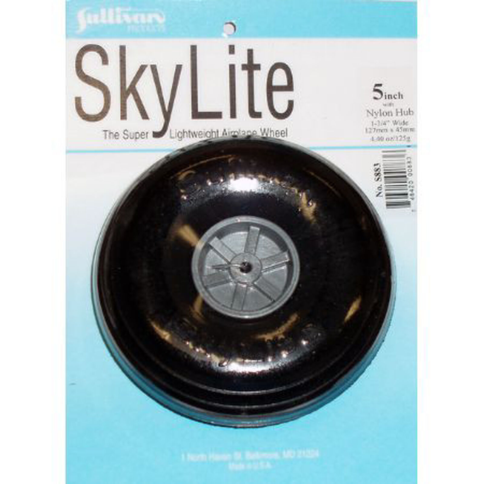 """Skylite Wheel with Tread 5"""" (1 wheel and tire included)"""