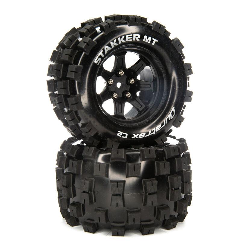 STAKKER MT 2.8 Mounted F/R Tires, C2 14mm Black (2)