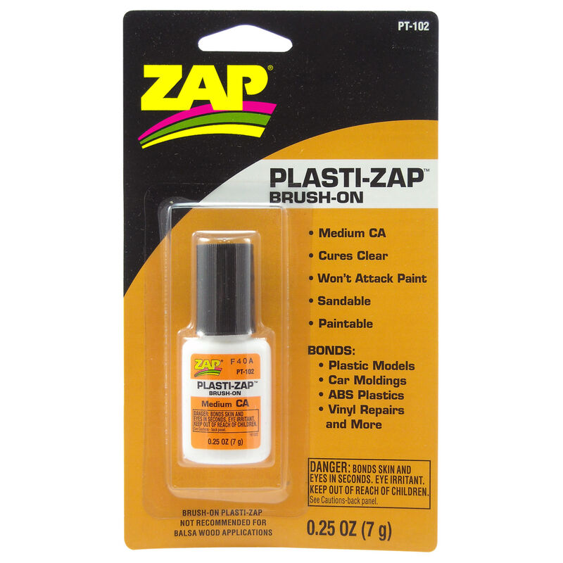 Plasti-Zap Brush On Medium CA, .25 oz, Carded