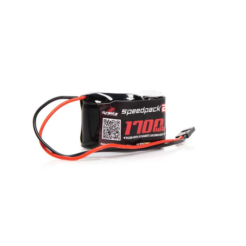 Speedpack2 6V 1700mAh 5C NiMH, 3+2 Hump Receiver Pack