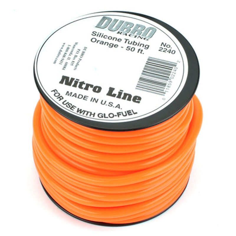 Silicone 50' Fuel Tubing, Orange