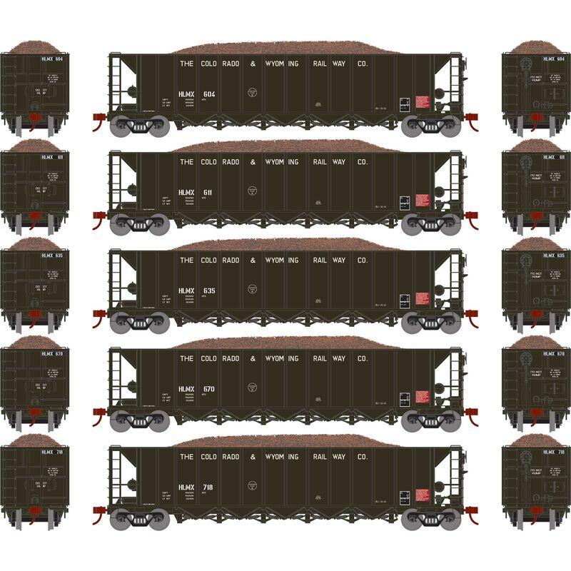 HO RTR 5-Bay Rapid Discharge Hopper HLMX #1 (5)