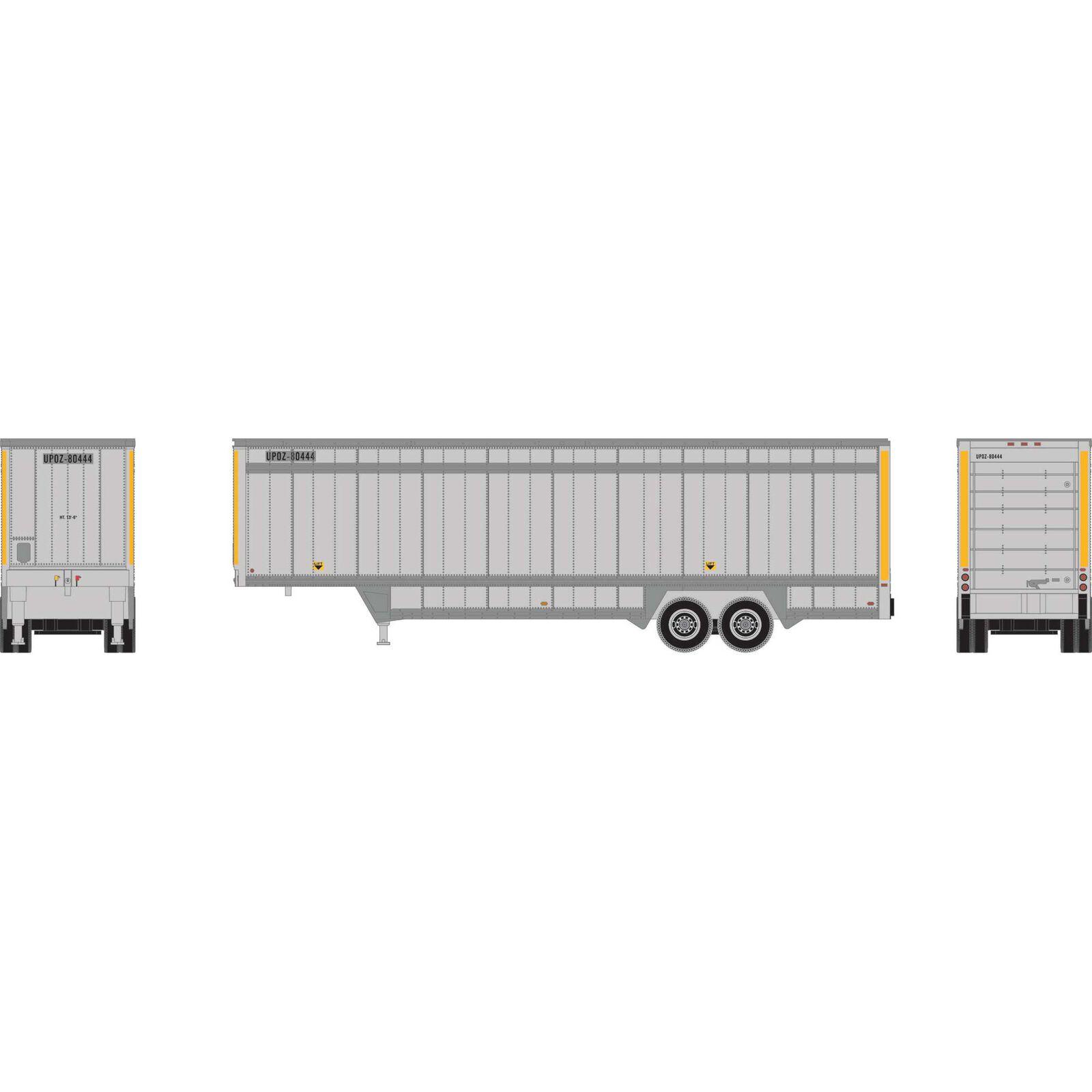 HO RTR 40' DropSill Parcel Trailer, UPS/Yellow80444