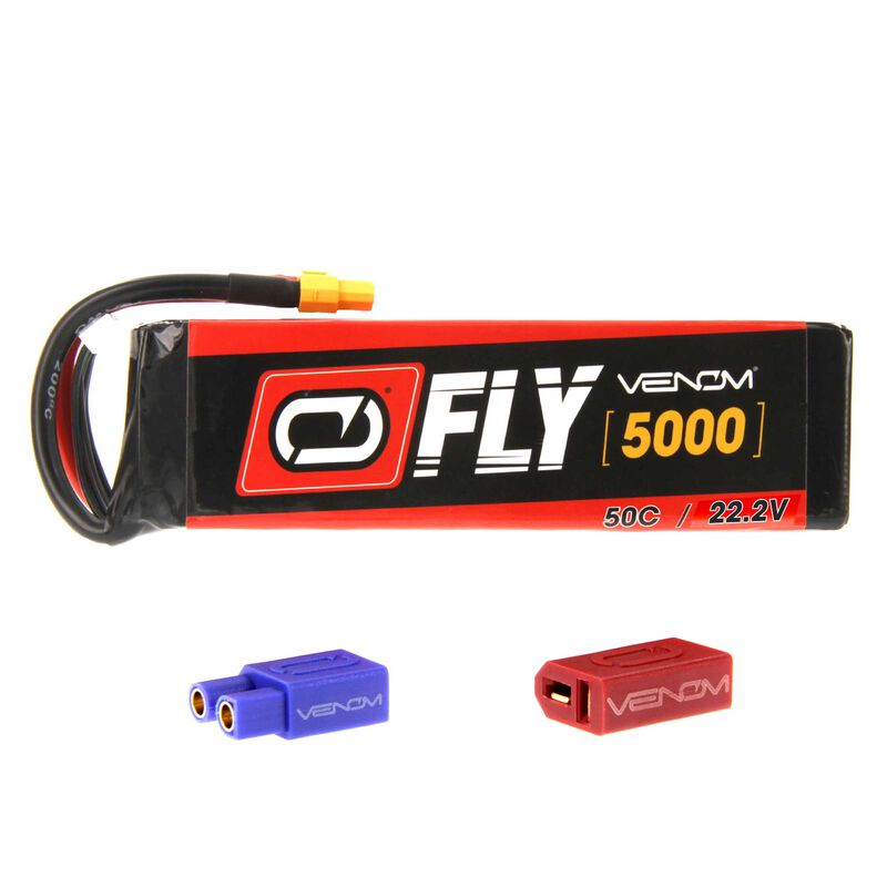 22.2V 5000mAh 6S 50C FLY LiPo Battery: UNI 2.0 Plug
