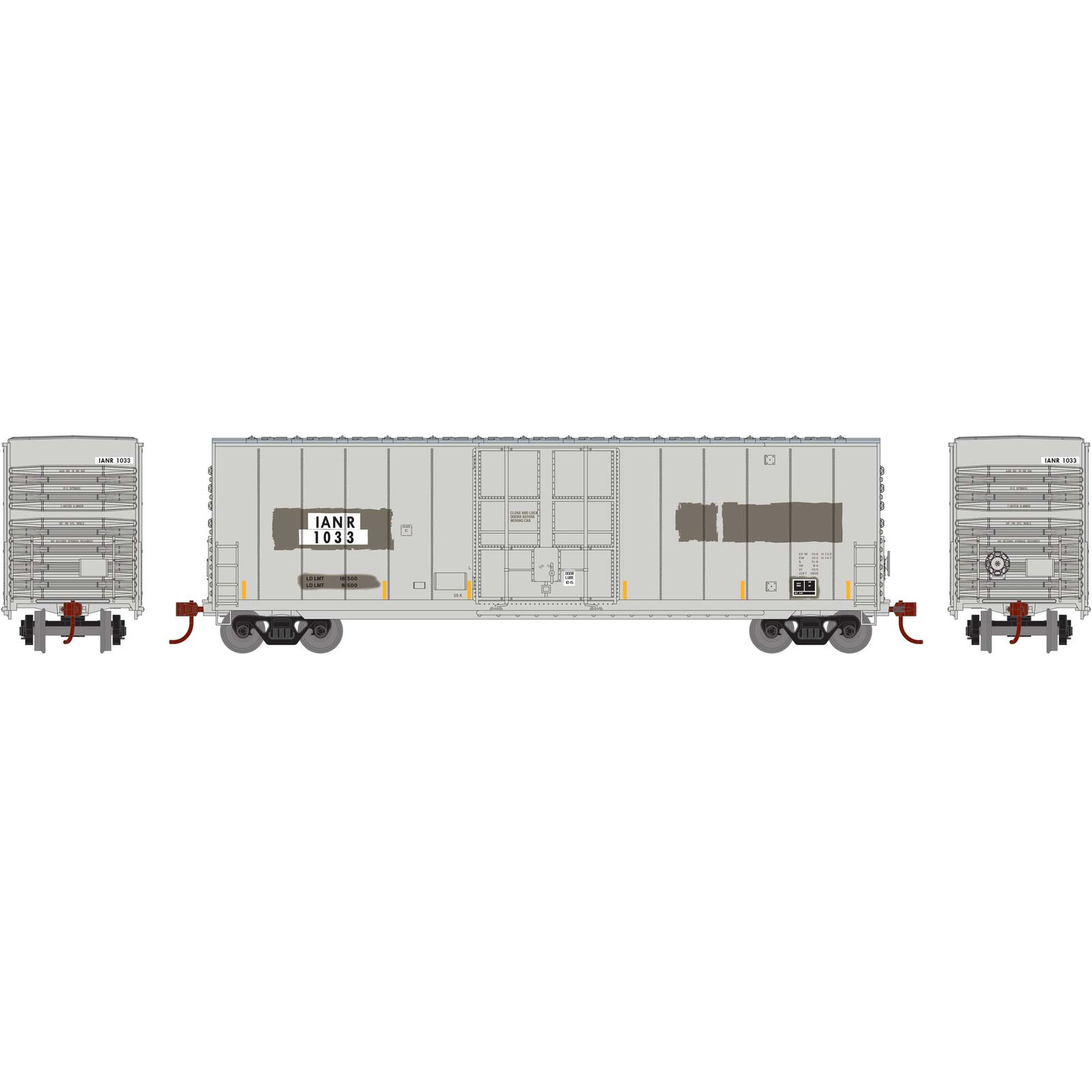 N 50' Smooth High Cube Plug Door Box, IANR #1033