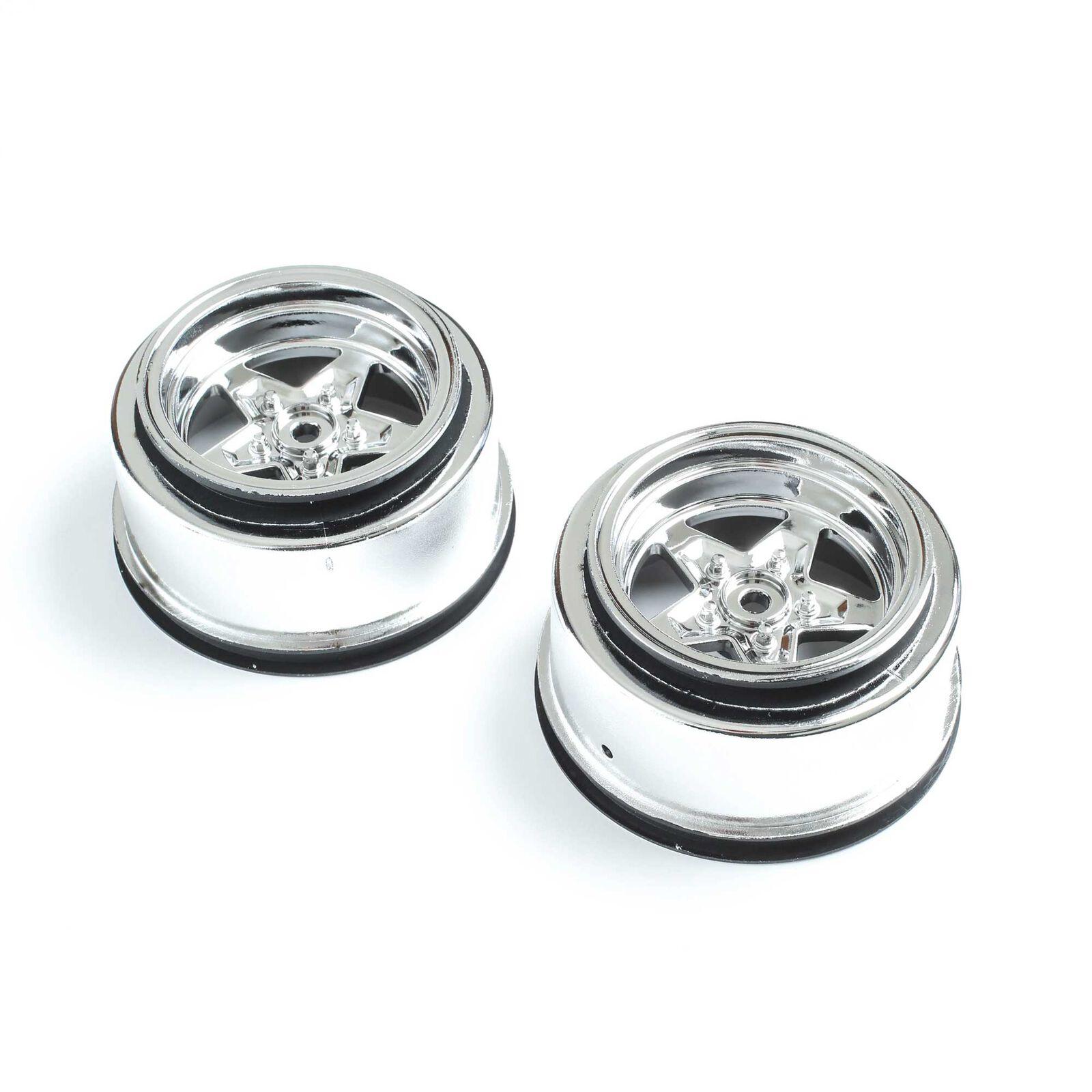 Rear Wheel, Chrome (2): 22S Drag