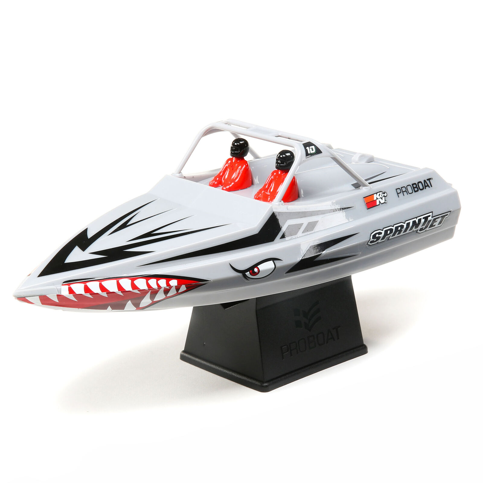 "Sprintjet 9"" Self-Righting Jet Boat Brushed RTR, Silver"