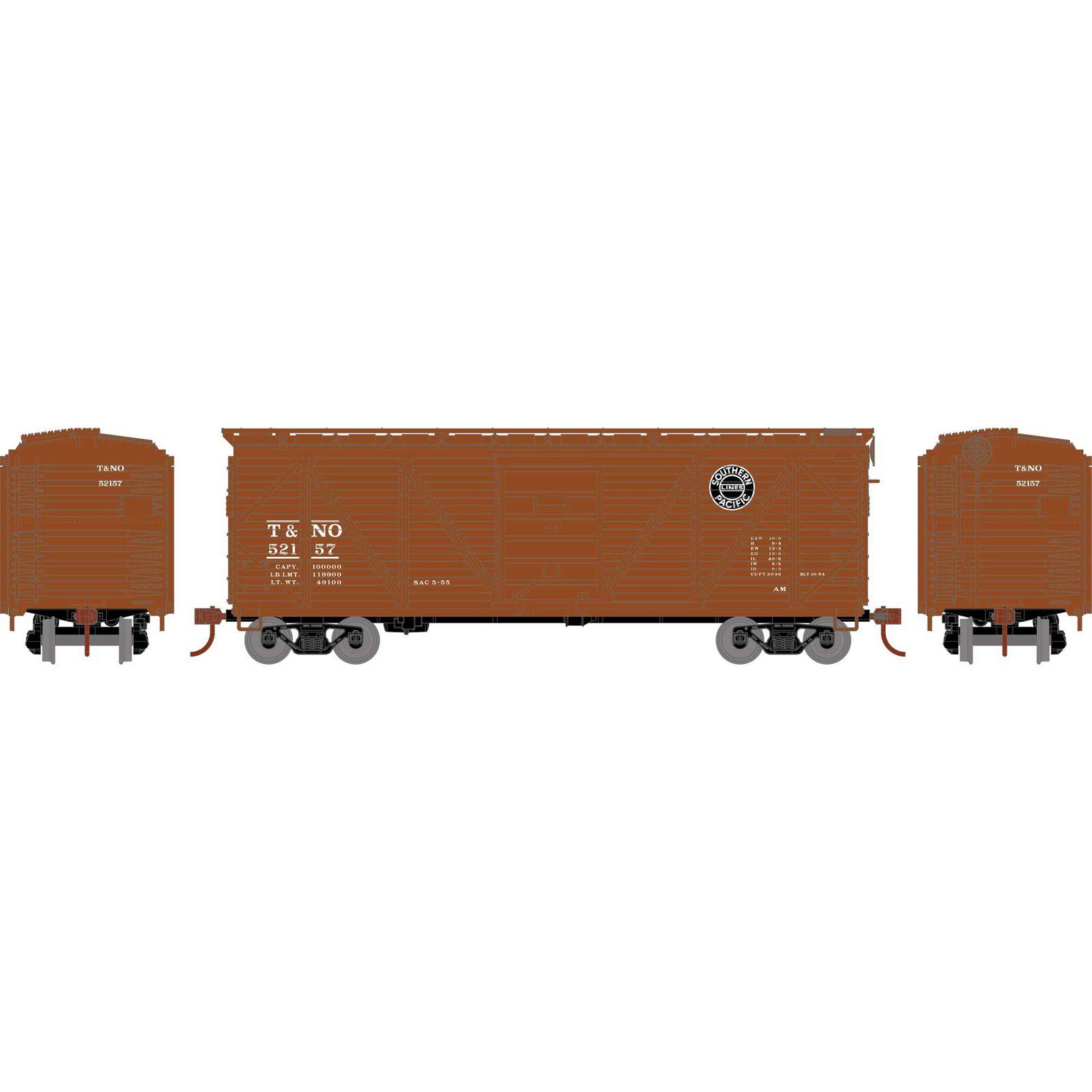 HO 40' Single Sheathed Box, T&NO #52157