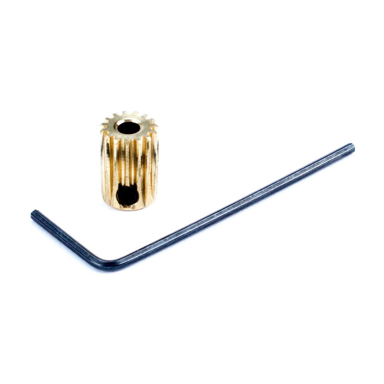 Pinion Gear, 15T 0.5 Module 1/8 ID x 12mm L