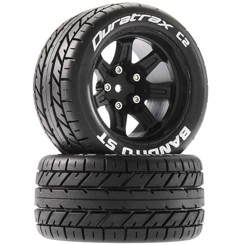 Bandito ST 2.8 Mounted Tires, Black 14mm Hex (2)