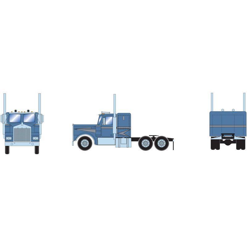 HO RTR KW Tractor Metallic Blue & Silver