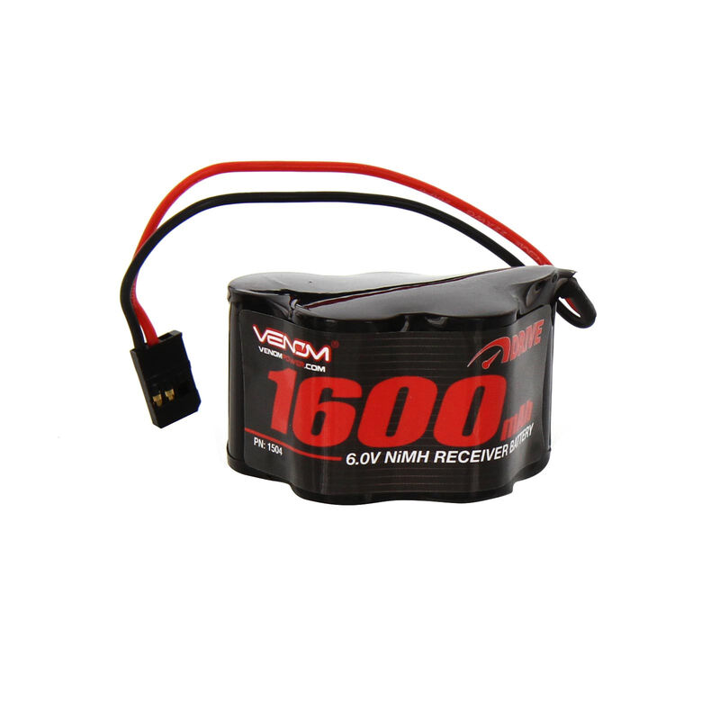 6.0V 1600mAh 5-Cell DRIVE NiMH Hump Receiver Battery: Universal Receiver