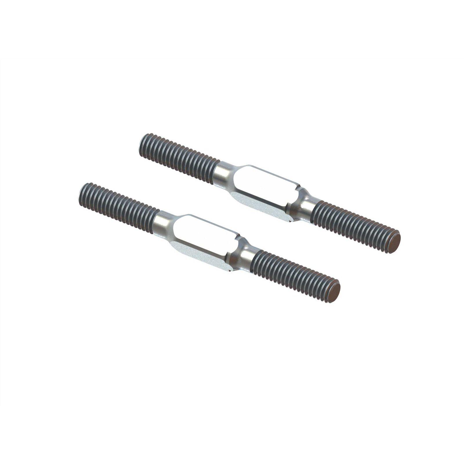 Steel Turnbuckle, M4x45mm Silver (2): EXB