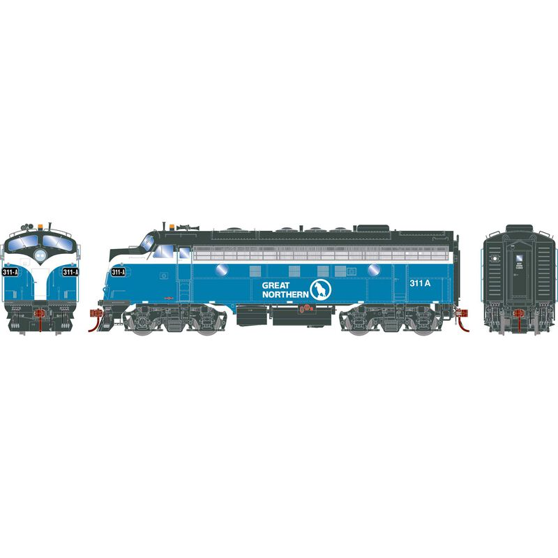 HO F7A with DCC & Sound GN Freight #311A