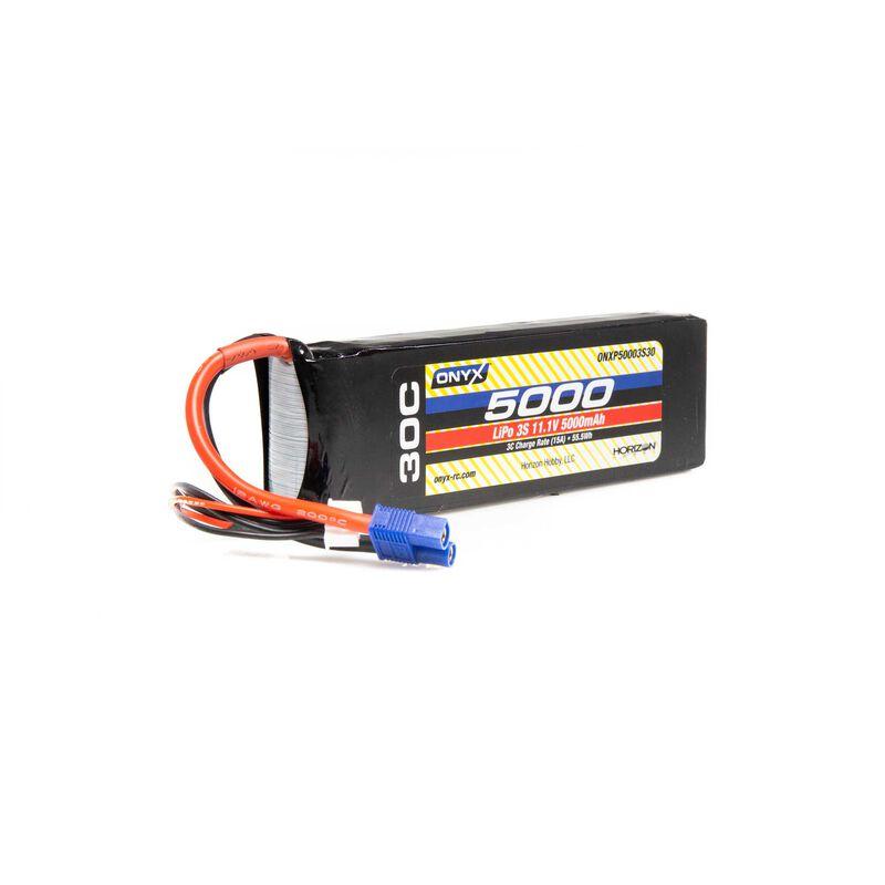 11.1V 5000mAh 3S 30C LiPo Battery: EC3
