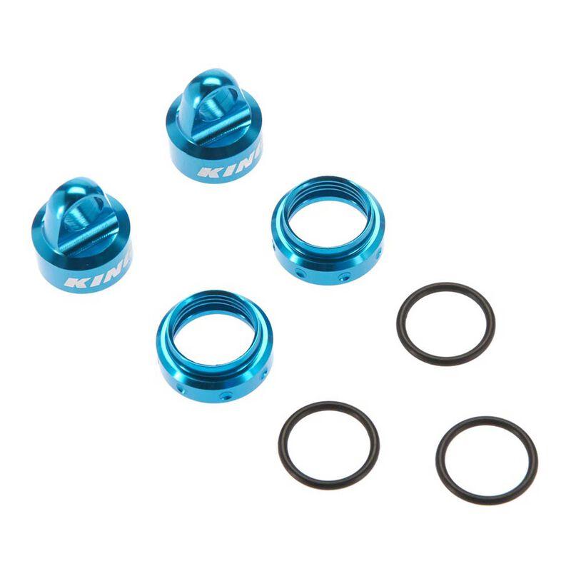 King Shocks Aluminum Caps Collar Set 12mm Blue