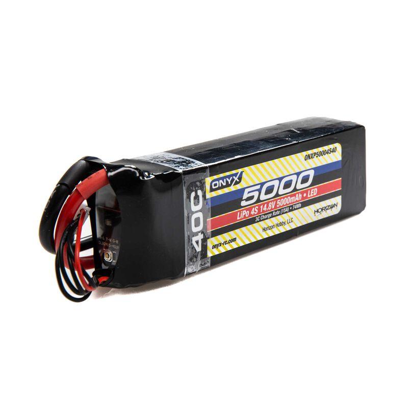 14.8V 5000mAh 4S 40C LiPo Battery: EC5