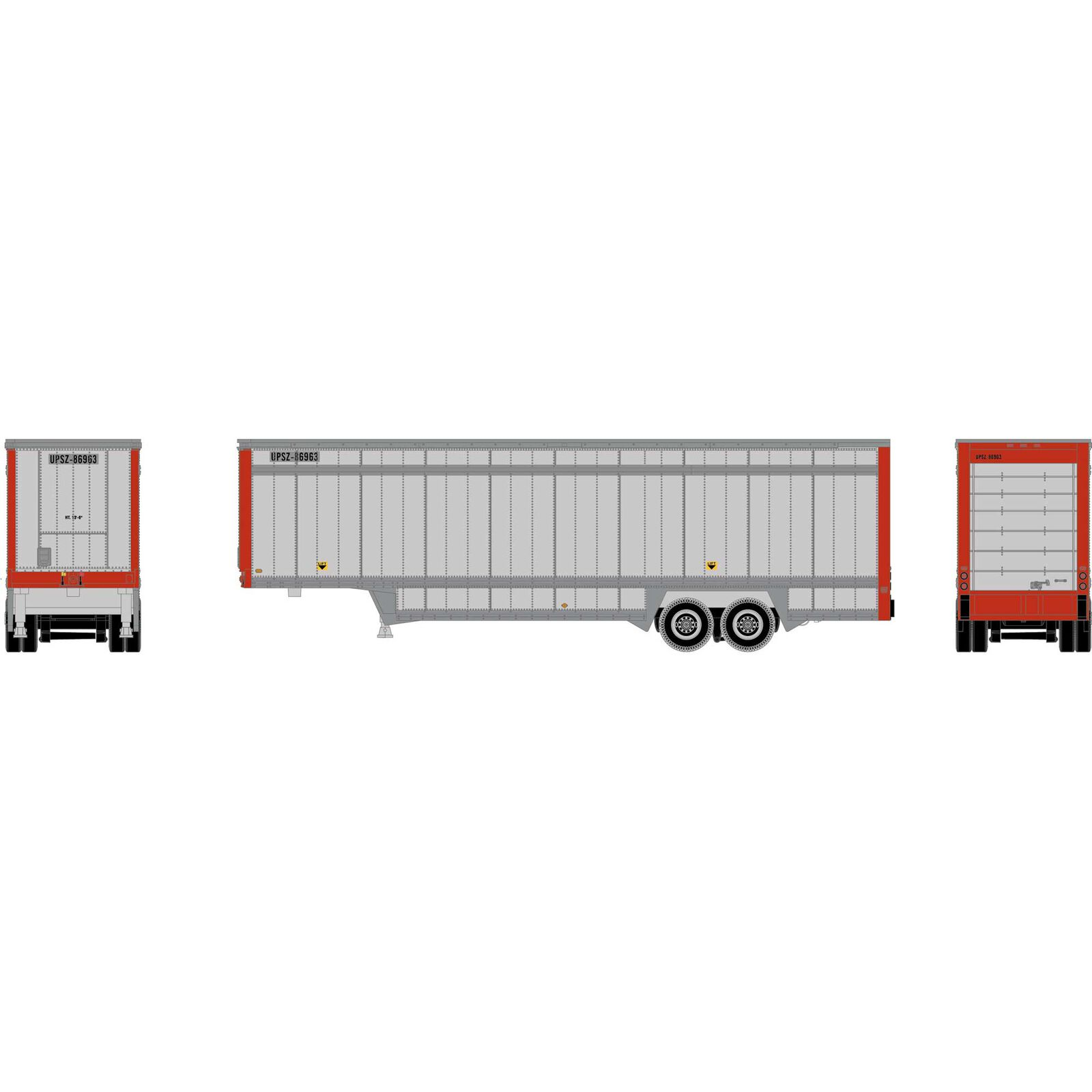 N 40' Drop Sill Parcel Trailer, UPS/Red Ends #86963
