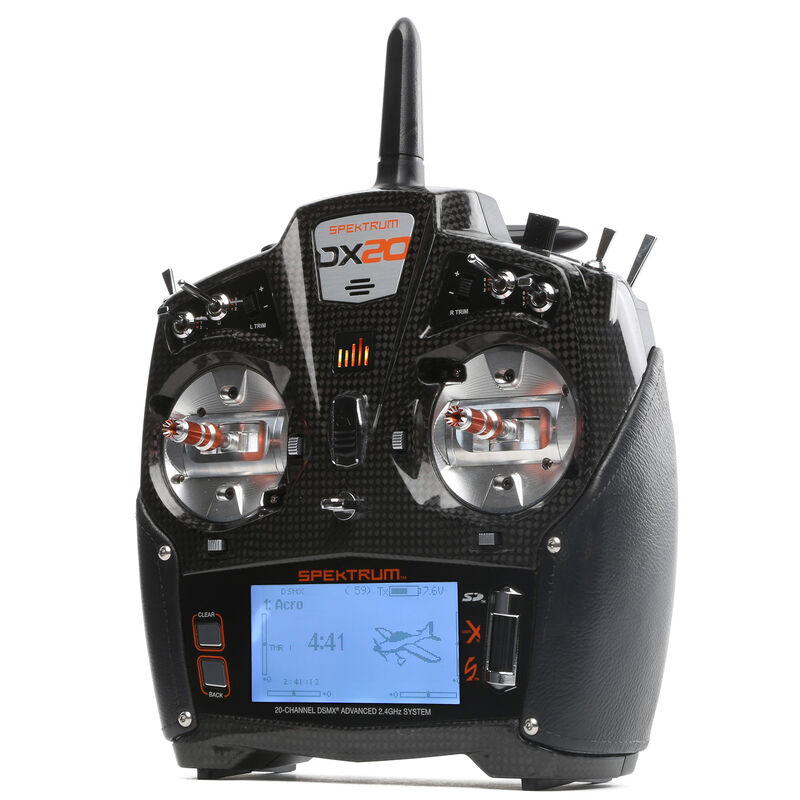 DX20 20-Channel DSMX Transmitter with AR9020, Mode 2