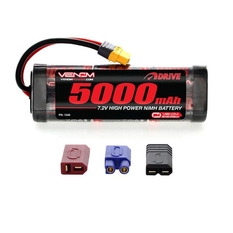 7.2V 5000mAh 6-Cell DRIVE Flat NiMH Battery: UNI 2.0 Plug