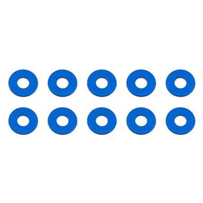 Bulkhead Washers, 7.8x0.5mm, Blue Aluminum (10)