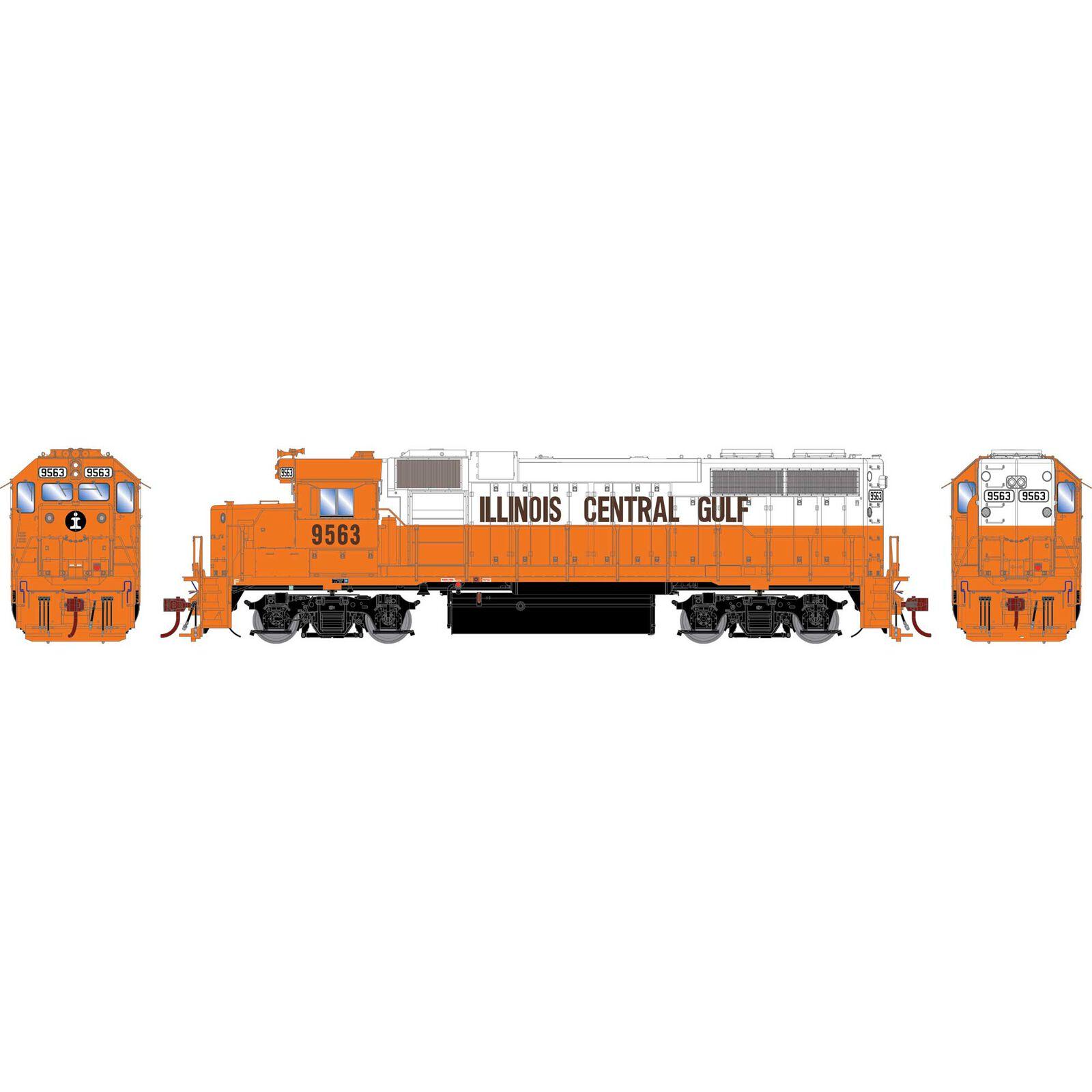 HO GP38-2 ICG Orange & White #9563