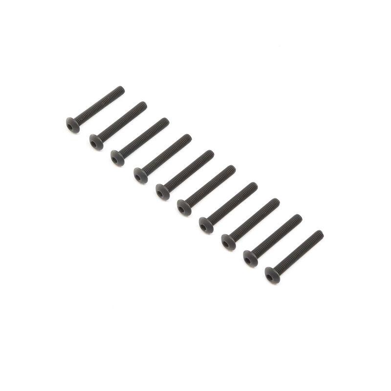 Button Head Screws, Steel, Black Oxide, M4 x 30mm (10)