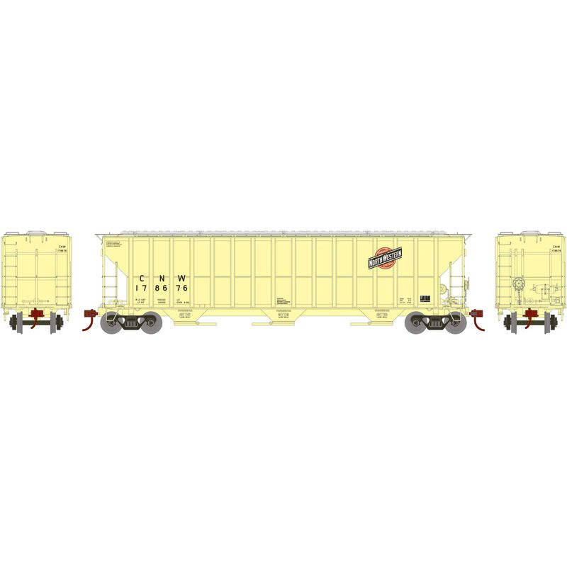 HO RTR FMC 4700 Covered Hopper, C&NW/Faded #178676