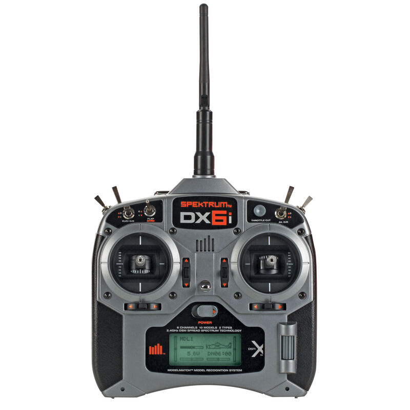 DX6i 6-Channel DSMX® Transmitter with AR6210 Receiver, Mode 2