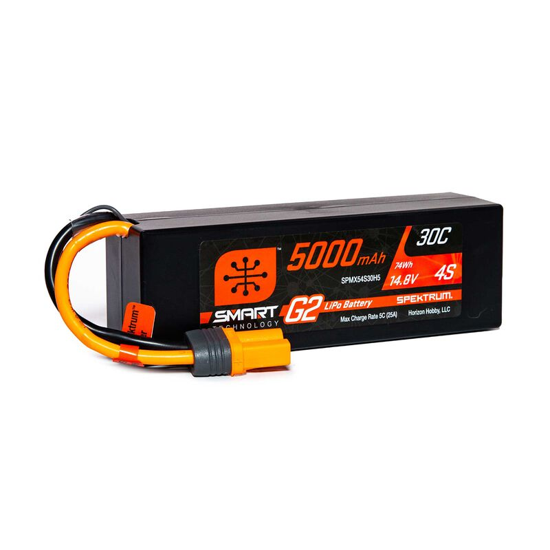 14.8V 5000mAh 4S 30C Smart LiPo G2 Hard Case: IC5
