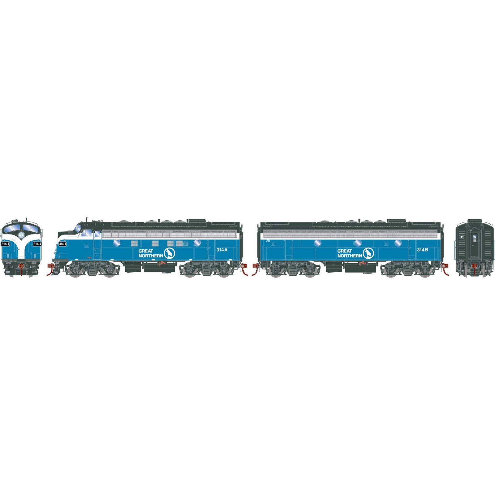 HO F7A F7B GN Freight #314A #314B